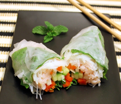 Shrimp and Vegetable Spring Roll