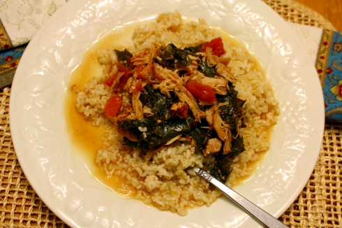 Spicy Pork and Kale