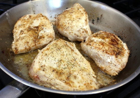 Browning the Chicken