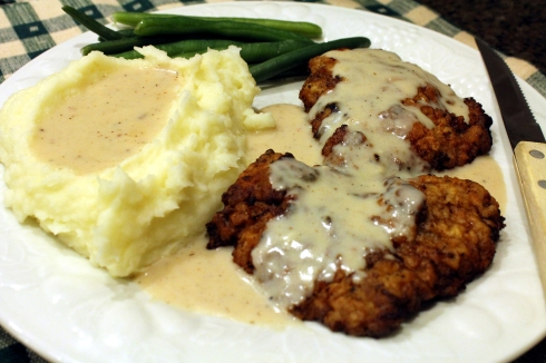 Chicken Fried Steak with all the Fixin's