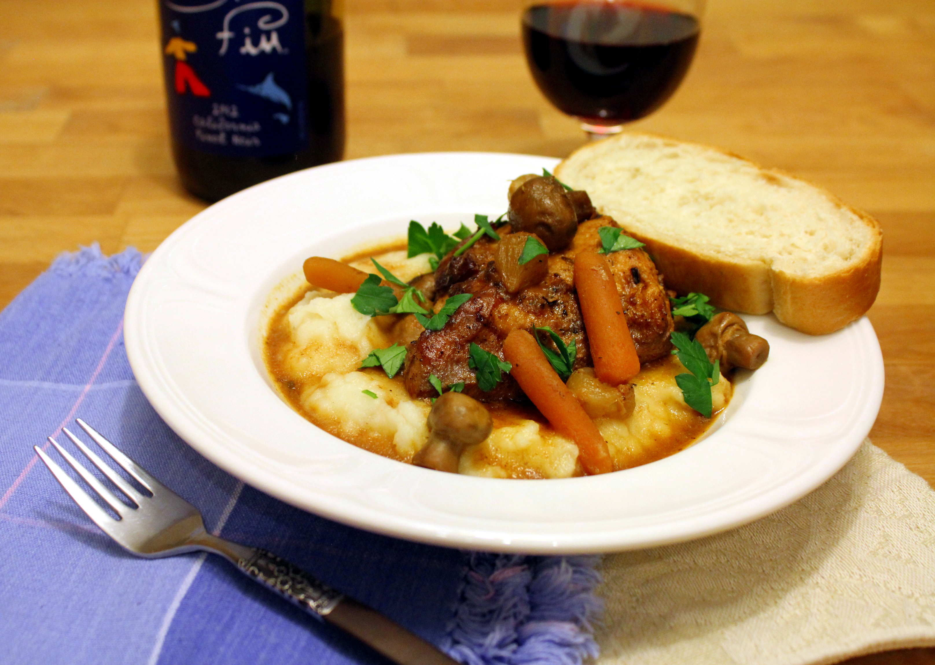 Coq au Vin (Chicken in Wine) | anotherfoodieblogger