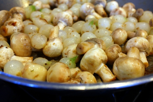 Mushrooms and Pearl Onions