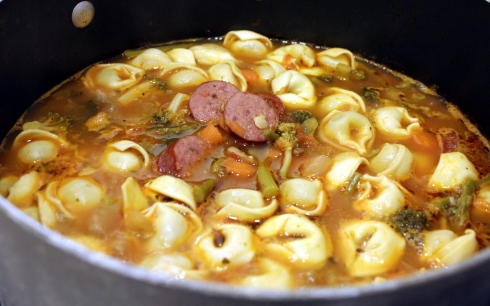 Tortellini and Optional Sausage Added
