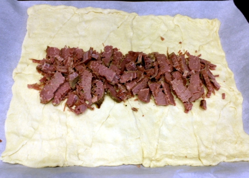 Corned Beef on Pastry Dough
