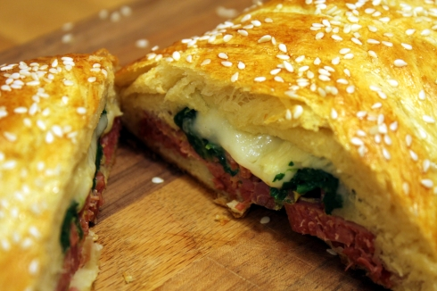 Corned Beef Spinach and Swiss Cheese Braid 1