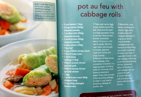 Pot au Feu with Cabbage Rolls