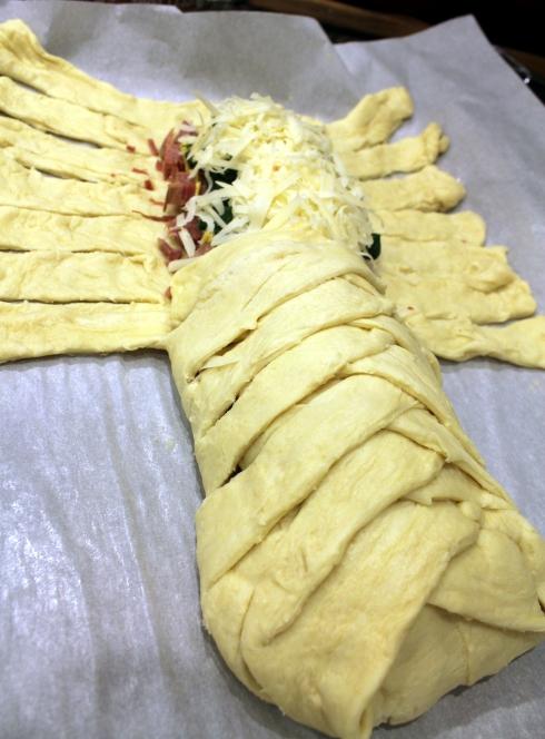 Sandwich Loaf Halfway Braided