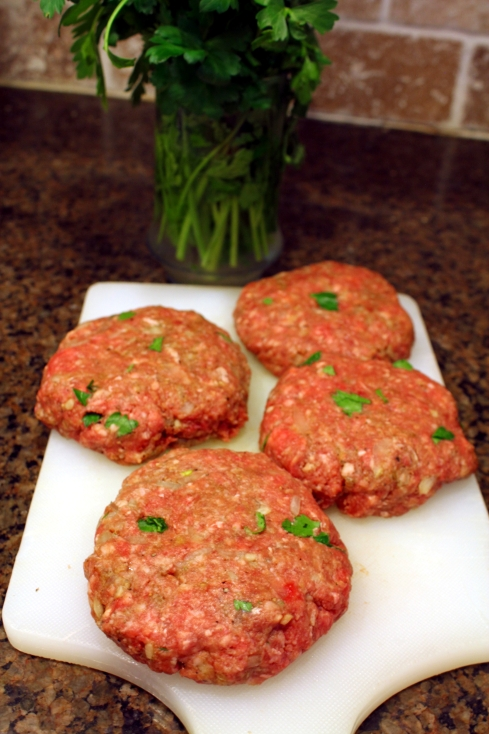 Salisbury Steak Patties and Parsley