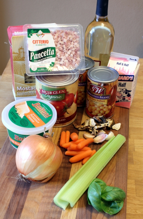 Chickpea Bolognese Ingredients