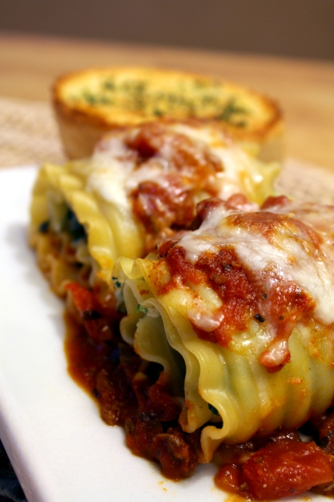 Spinach and Lasagna Roll Ups