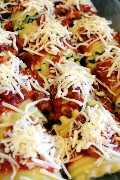 Spinach Lasagna Roll Ups Ready to Bake