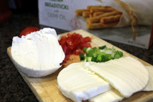 Mozzarella and Salad Fixings