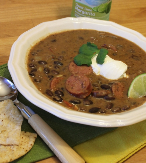 Spicy Black Bean Soup and Smoked Sausage Soup