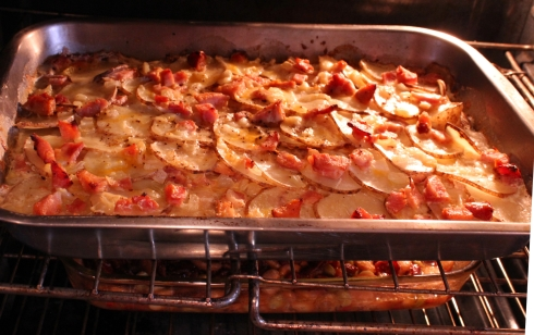 Casserole in Oven