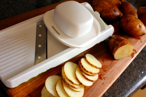 Food Slicer and Potatoes