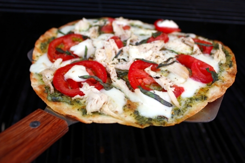 Grilled Pesto Chicken Margherita Pizza