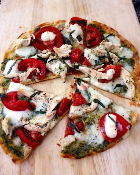 Pesto Chicken Margherita Pizza