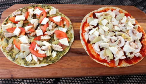Tortilla Pizzas Ready to Grill