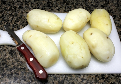 Cold Chilled Potatoes Ready to Chop