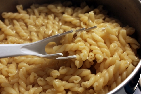 Cooked Gemelli Noodles