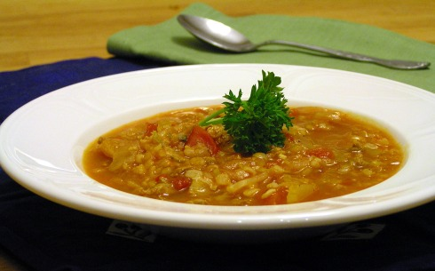 Inside-Out Stuffed Cabbage Roll Soup