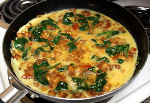 Setting the Bottom of the Frittata