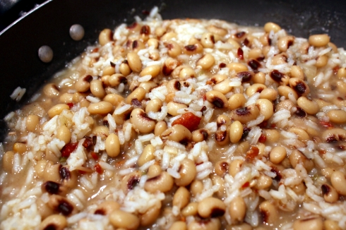 Black-Eyed Peas and Risotto Mixed Together