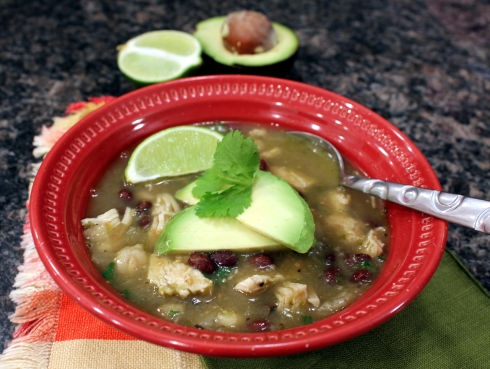 Chicken Chile Verde Posole