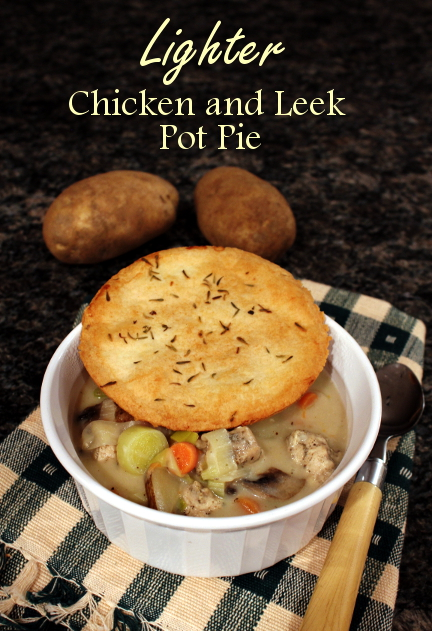 Lighter Chicken and Leek Pot Pie