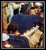 Rockwell Girl on Train