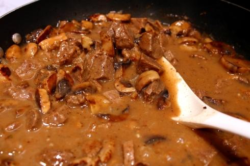 Steak Tips and Mushroom Sauce