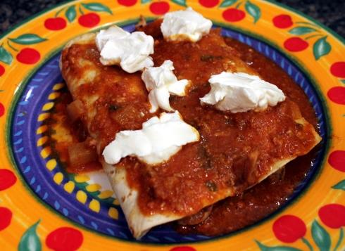 Rolled Quesadillas with Chorizo Stew
