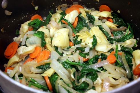 Spinach Wilted with Veggies
