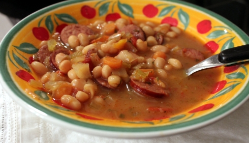 White Bean and Sausage Crock Pot Soup