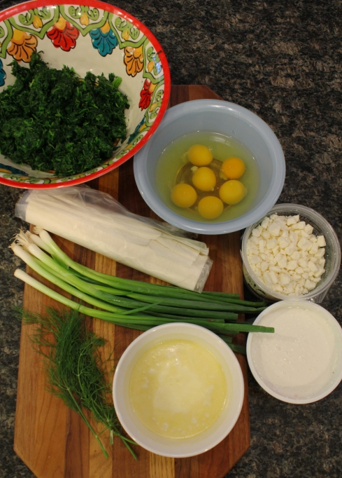 Spanakopita Ingredients