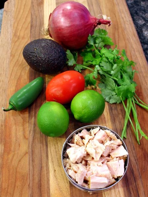 Fresh Ceviche Ingredients