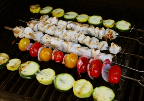 Grilling the Kabobs