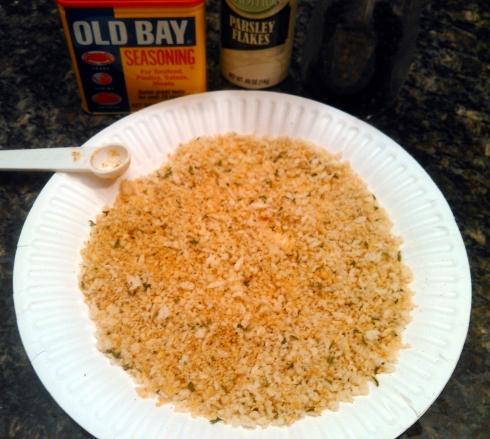 Panko and Old Bay and Seasonings