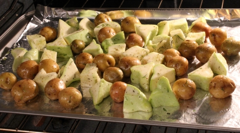 Vegetables in Oven for Roasting