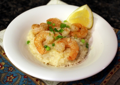 Shrimp Risotto with Cajun-Spiced Shrimp