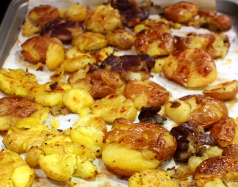 Smashed Roasted Little Potatoes