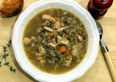 Turkey Lentil and Mixed Brown Rice Soup