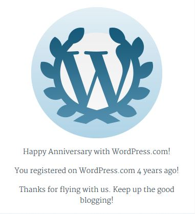 WordPress 4th Anniversary