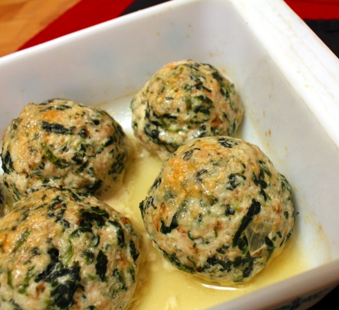 Baked Spinach, Garlic, and Rosemary Turkey Meatballs
