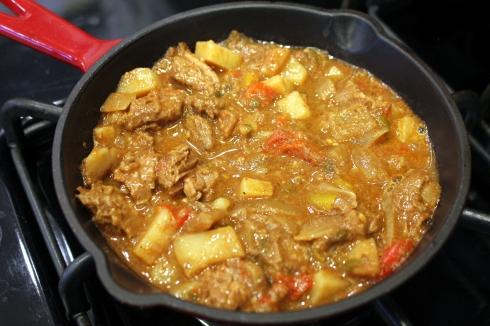 Carne Guisada Simmering
