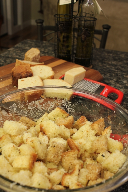 Making Homemade Croutons