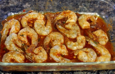Marinating the Shrimp