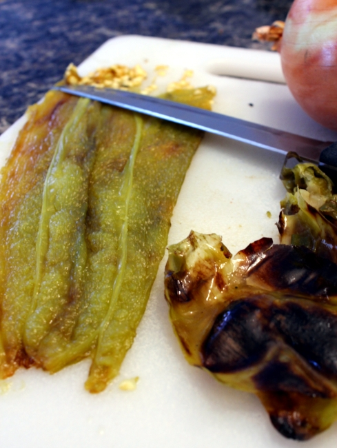Peeled and Seeded Roasted Hatch Chile Pepper