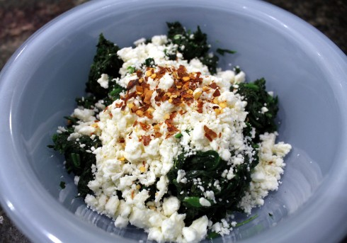 Spinach and Feta Cheese Stuffing