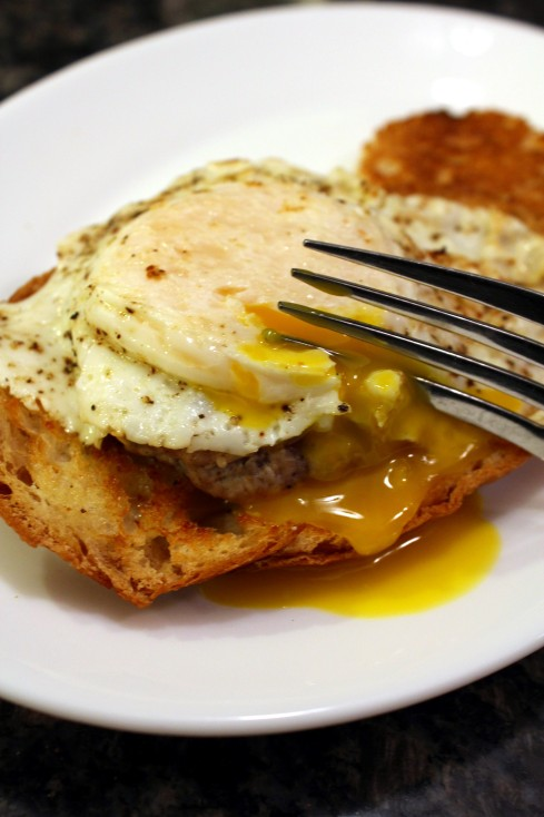 Breakfast Sausage and Egg Stack